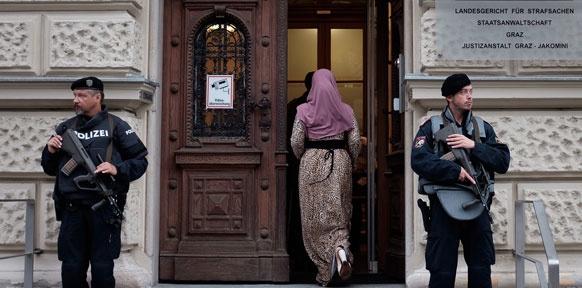 Eingang des Grazer Straflandesgerichts