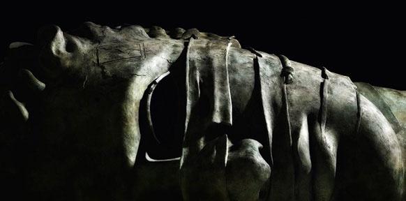 Liegende Maske (Buchcover-Ausschnitt)