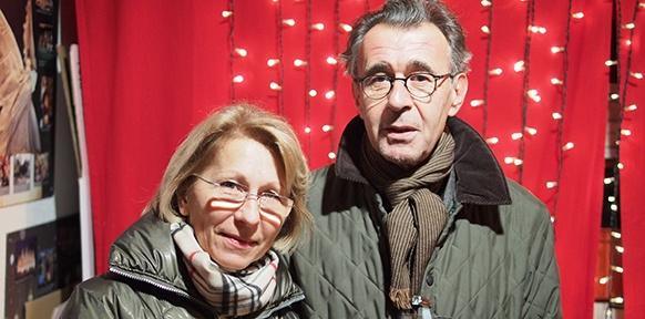 Peter Klein mit Boje-Geschäftsführerin Regina Rüsch