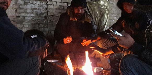 Frust und Kälte in der alten Ziegelfabrik in Subotica