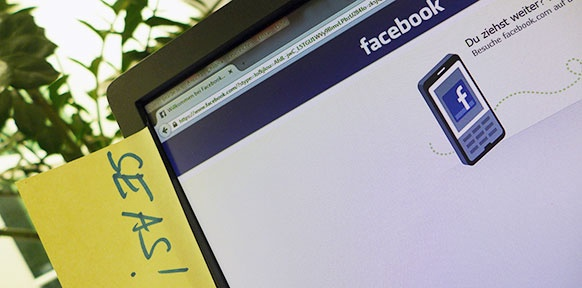 Facebook-Bildschirm