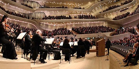 Der Konzertsaal in der Elbphilharomnie