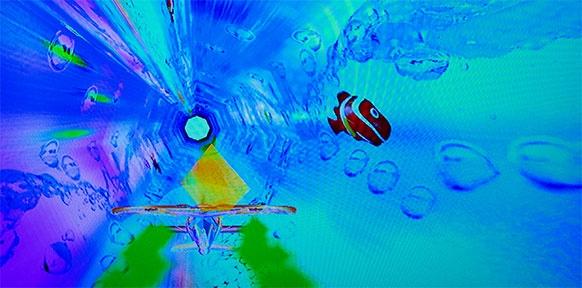 Fische auf einem Bildschirm