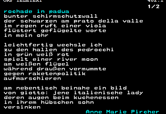 "Screenshot des Gedichts ""rochade in padua"""