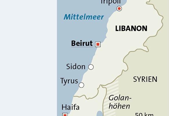 Im Norden Und Osten Grenzt Er An Syrien, Im Süden An Israel. Auf Einer  Fläche Von ...