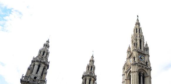 Türme des Wiener Rathauses