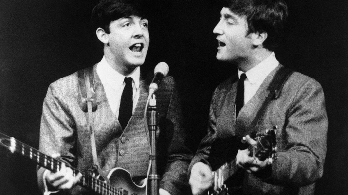 Paul McCartney und John Lennon, 1963