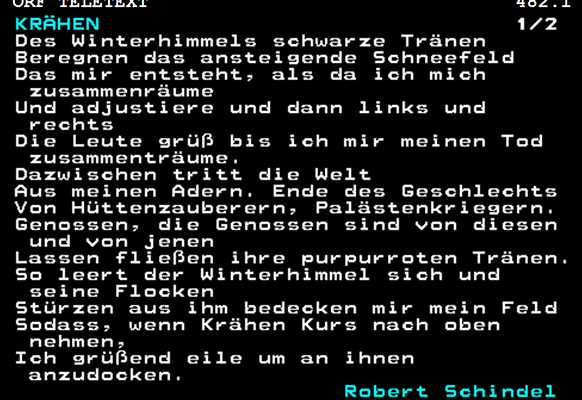 """Screenshot des Gedichts """"Krähen"""""""