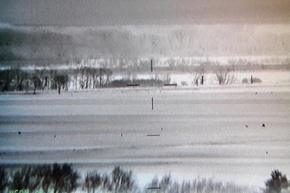 Landschaftsfoto einer Wärmebildkamera