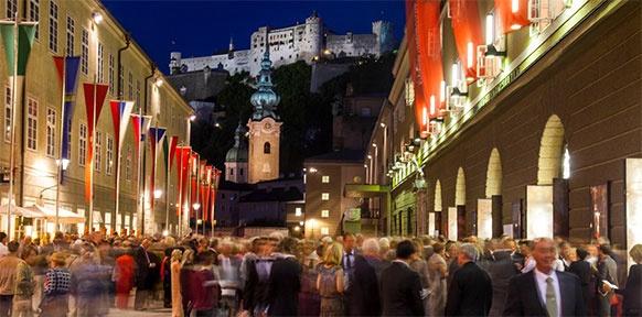 Salzburg, Abendstimmung, Publikum