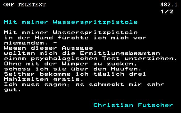 """Screenshot des Gedichtes """"Mit einer Wasserspritzpistole"""""""
