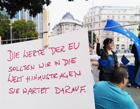 Plakat einer Demonstration