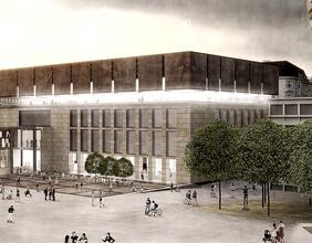 Rendering Außenansicht des umgebauten Wien Museums