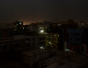 Ein Blackout in Bangladesh.