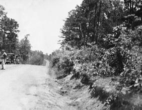 Straßensperre und Verfolgungsjagd der Polizei, 1934, Clyde Barrow und Bonnie Parker