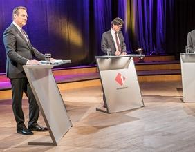 HC Strache, Klaus Webhofer und Christian Kern