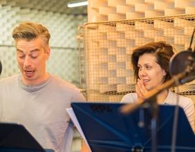 Tonaufnahmen im Hörspielstudio
