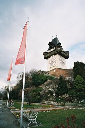 Schlossberg, Graz, Fahnen