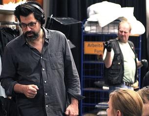 Regisseur Nicolas Wackerbarth beim Casting