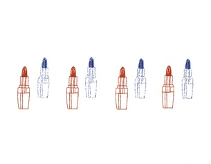 "Grafik ""Lipsticks"""