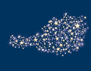 Österreichkarte aus Sternen
