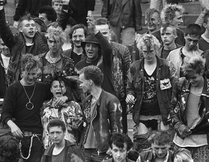 Punks in Hannover, 1984